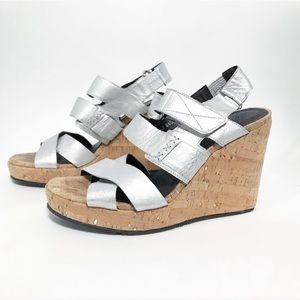 Donald J Pliner. DJP. Cork wedge sandal platform